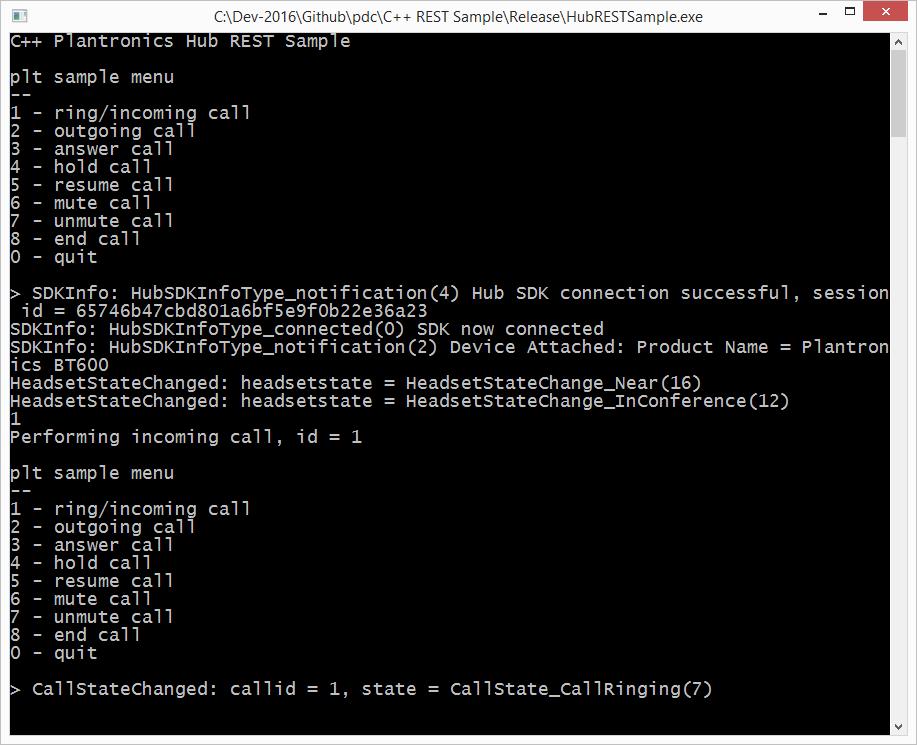 HubRESTSample – a new C++ REST API Sample for PDC